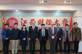 Official visit in Jiangxi University of Finance and Economics, China 2015